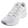 NIKE Women`s Zoom Vapor 9.5 Tour Tennis Shoes White and Metallic Silver