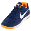 NIKE Men`s Zoom Cage 2 Tennis Shoes Coastal Blue and Bright Citrus
