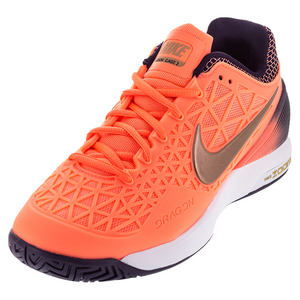 Women`s Zoom Cage 2 Tennis Shoes Bright Mango and Purple Dynasty
