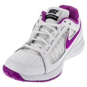 Women`s Air Vapor Ace Tennis Shoes White and Hyper Violet