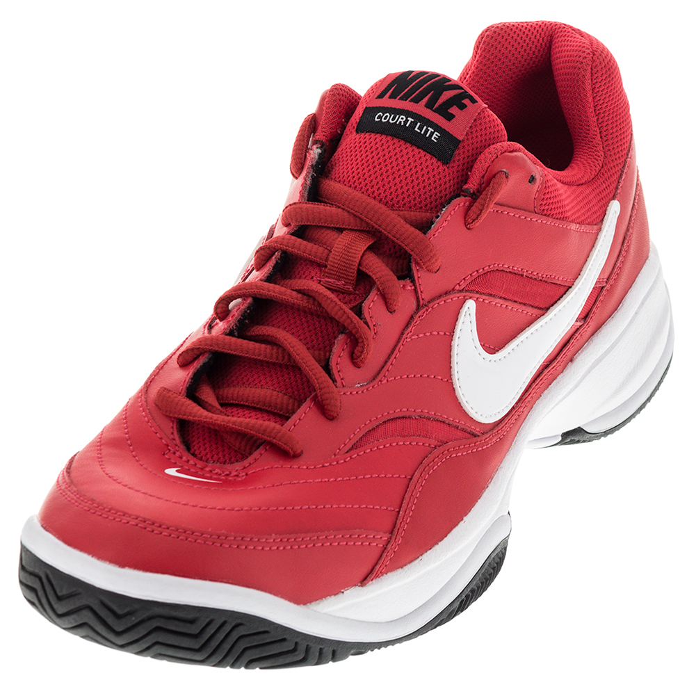 Men's Court Lite Tennis Shoes Action Red And White
