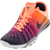 NIKE Women`s Free TR 6 Spectrum Training Shoe Bright Mango and Black