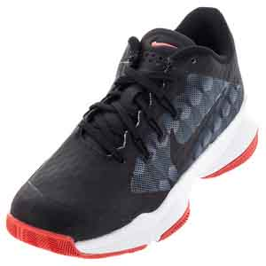 Women`s Air Zoom Ultra Tennis Shoes Black and Ember Glow