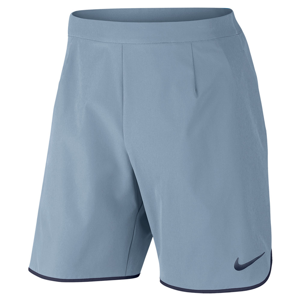 Men`s Gladiator 9 Inch Tennis Short 449_BLUE_GRAY