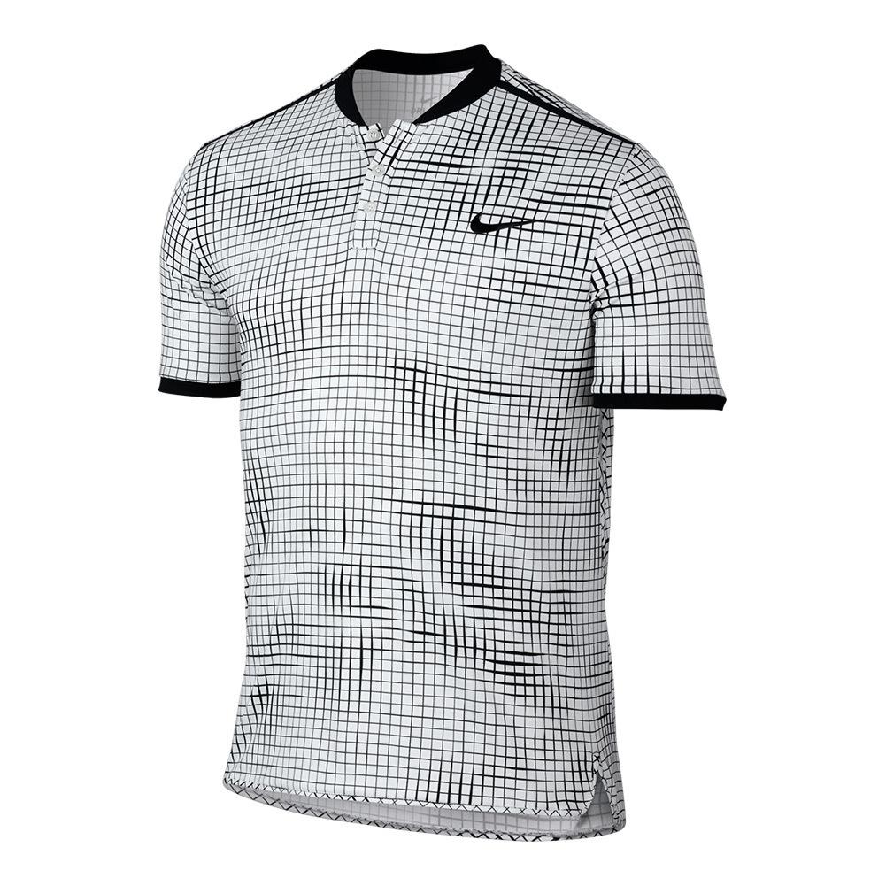 Men's Advantage Premier Tennis Polo White And Black