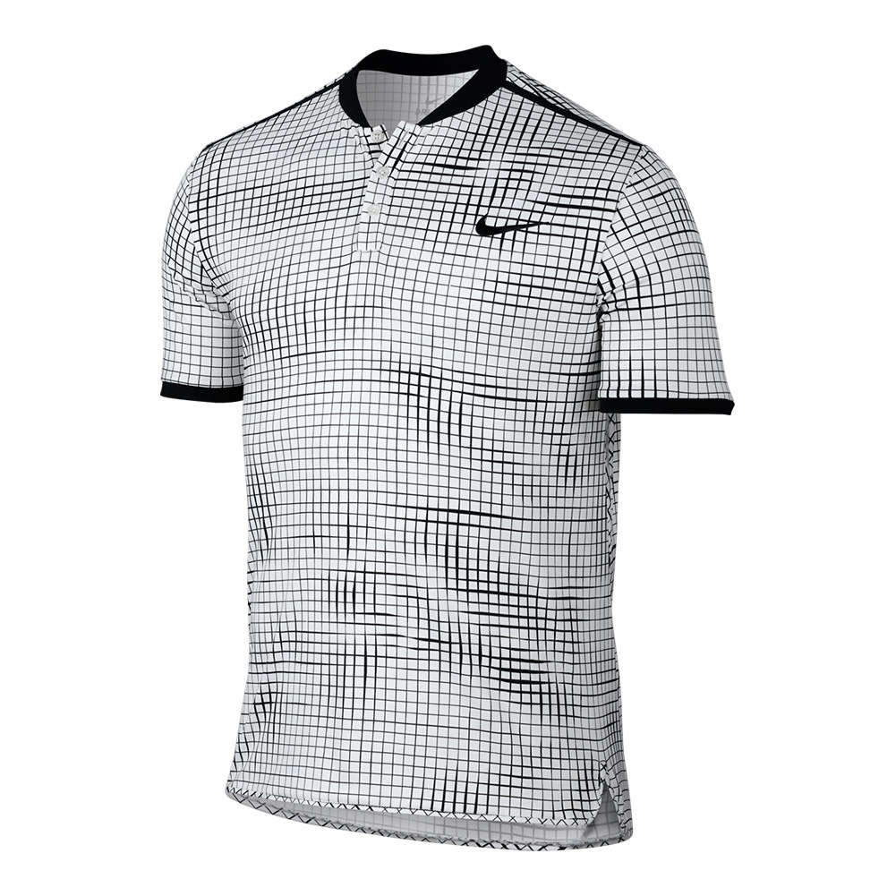 Men's Advantage Premier Tennis Polo White And Black