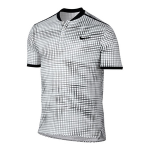 Men`s Advantage Premier Tennis Polo White and Black