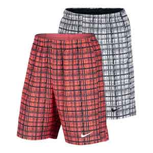 Men`s Court 9 Inch Plaid Tennis Short