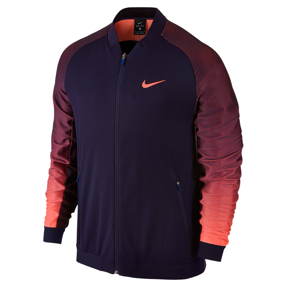 Men's Premier Tennis Jacket Purple Dynasty And Bright Mango