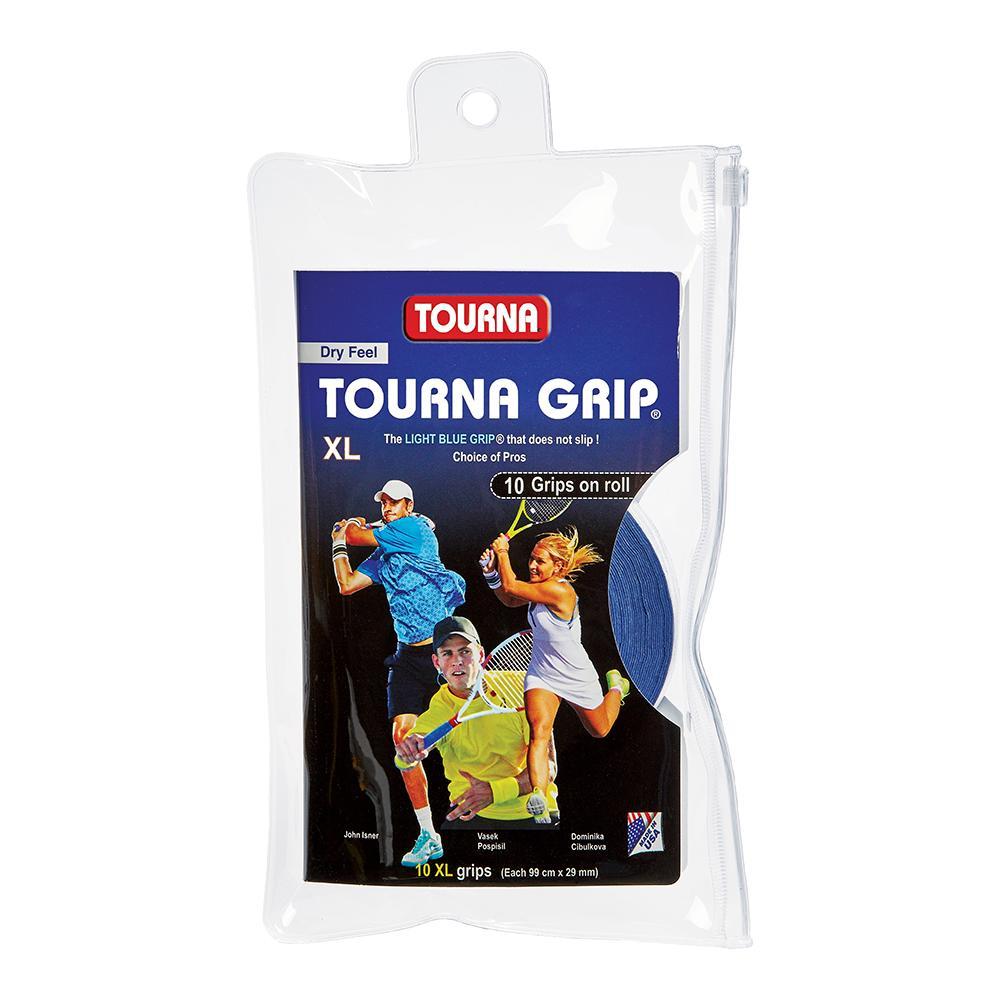 Tourna Grip 10 Grip Pack - XL Blue