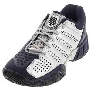 Men`s Bigshot Light 2.5 Tennis Shoes Silver and Navy