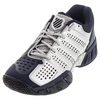 K-SWISS Men`s Bigshot Light 2.5 Tennis Shoes Silver and Navy
