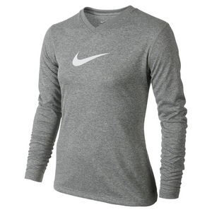Girls` Dry Training Top Dark Gray Heather