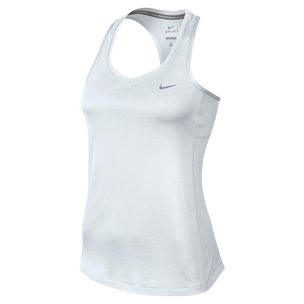 Women's Dry Miler Tank White