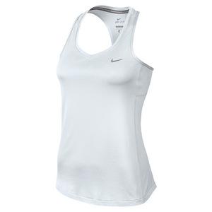 Women`s Dry Miler Tank White