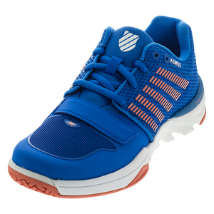 Women`s X Court Tennis Shoes Brilliant Blue and Living Coral