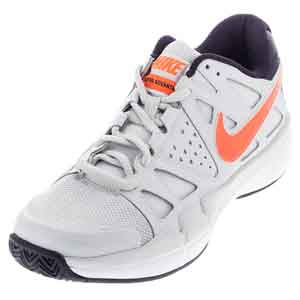 Men`s Air Vapor Advantage Tennis Shoes Pure Platinum and Purple Dynasty