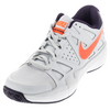 NIKE Men`s Air Vapor Advantage Tennis Shoes Pure Platinum and Purple Dynasty