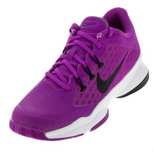 Women`s Air Zoom Ultra Tennis Shoes Hyper Violet and White