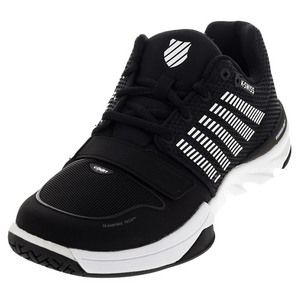 Men`s X Court Tennis Shoes Black and White