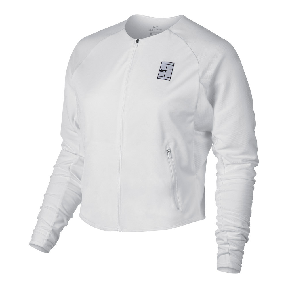240feabe2b8f ... Women`s Court Tennis Jacket 100 WHITE