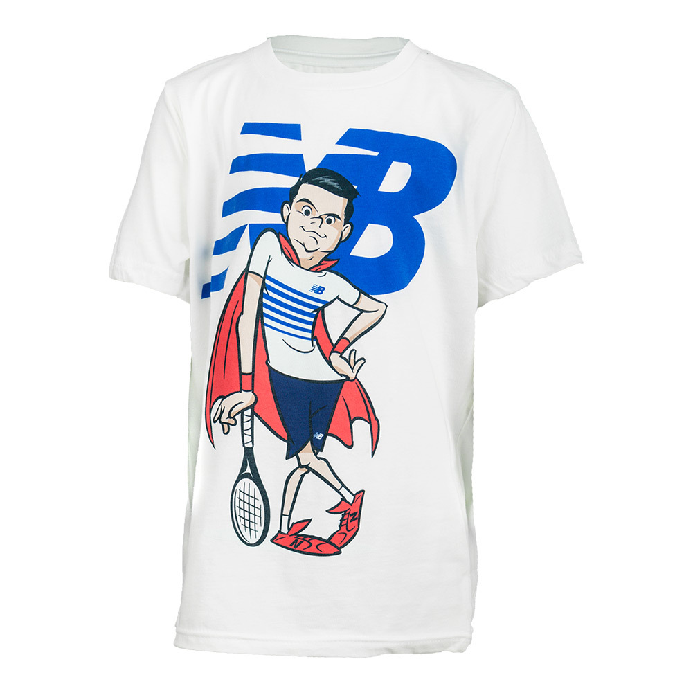 Boys'super Milow Tennis Tee White