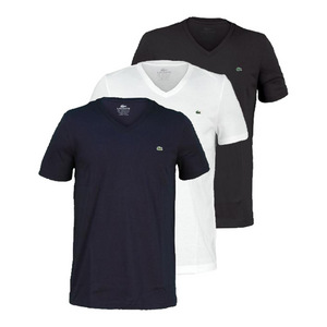 Men`s Pima Jersey V Neck Tennis Tee