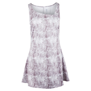Women`s Sideline Tennis Dress Taupe Print