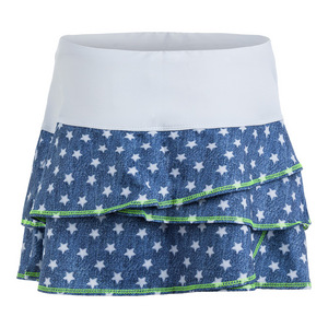 Girls` Star-Struck Scallop Tennis Skort Print