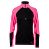Women`s Odyssey Half Zip Top 001_BLACK/PINK