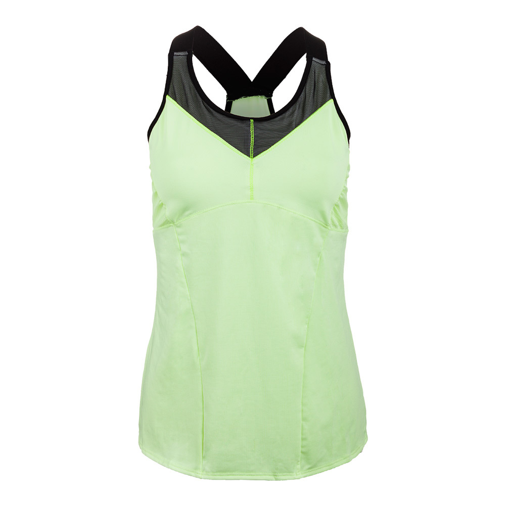 Women's Mesh V- Cami Tennis Top Lemon Frost