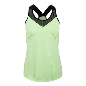 Women`s Mesh V-Cami Tennis Top Lemon Frost