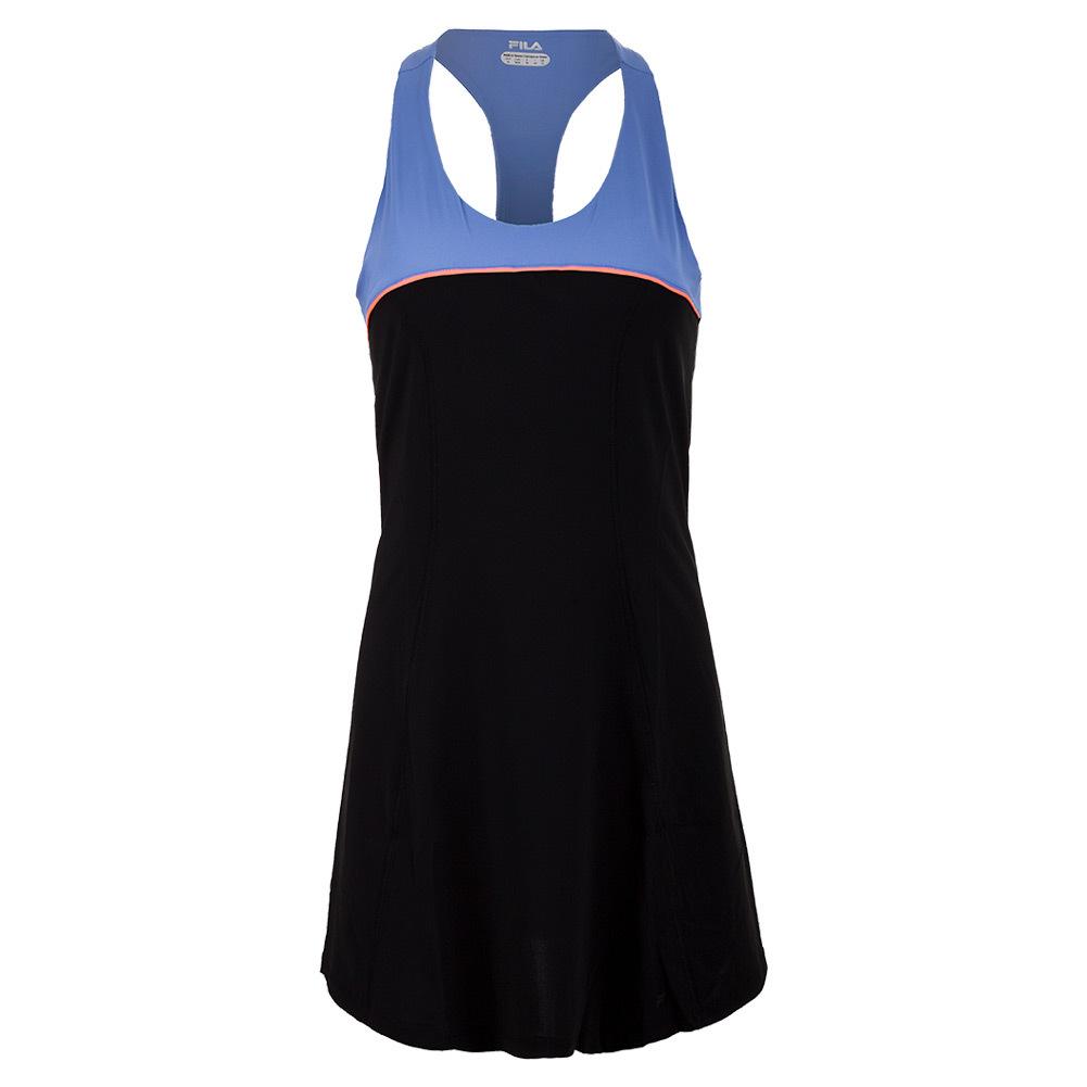 Women's Platinum Tennis Dress Black And Persian Jewel