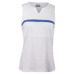 Women`s Platinum Sleeveless Tennis Tank White