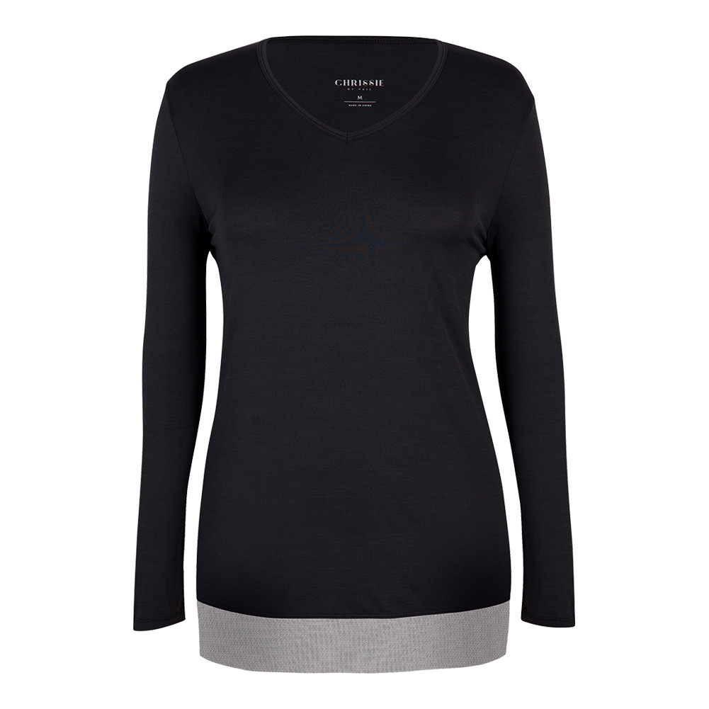 Women's Zane Long Sleeve Tennis Top Black