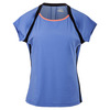 Women`s Platinum Cap Sleeve Tennis Top Persian Jewel by FILA