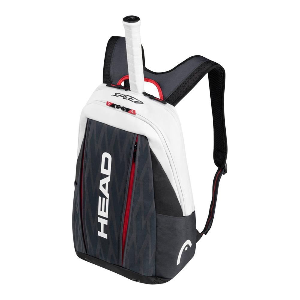 Djokovic Tennis Backpack Black And White