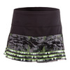 LUCKY IN LOVE Women`s Shadow Play Mesh Layer Tennis Skort Black and Print