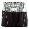 LUCKY IN LOVE Women`s Chill Tennis Skort Black and Lemon Frost