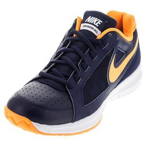 Men`s Air Vapor Ace Tennis Shoes Midnight Navy and Bright Citrus