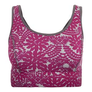Women`s Power Play Tennis Bra Dahlia Print