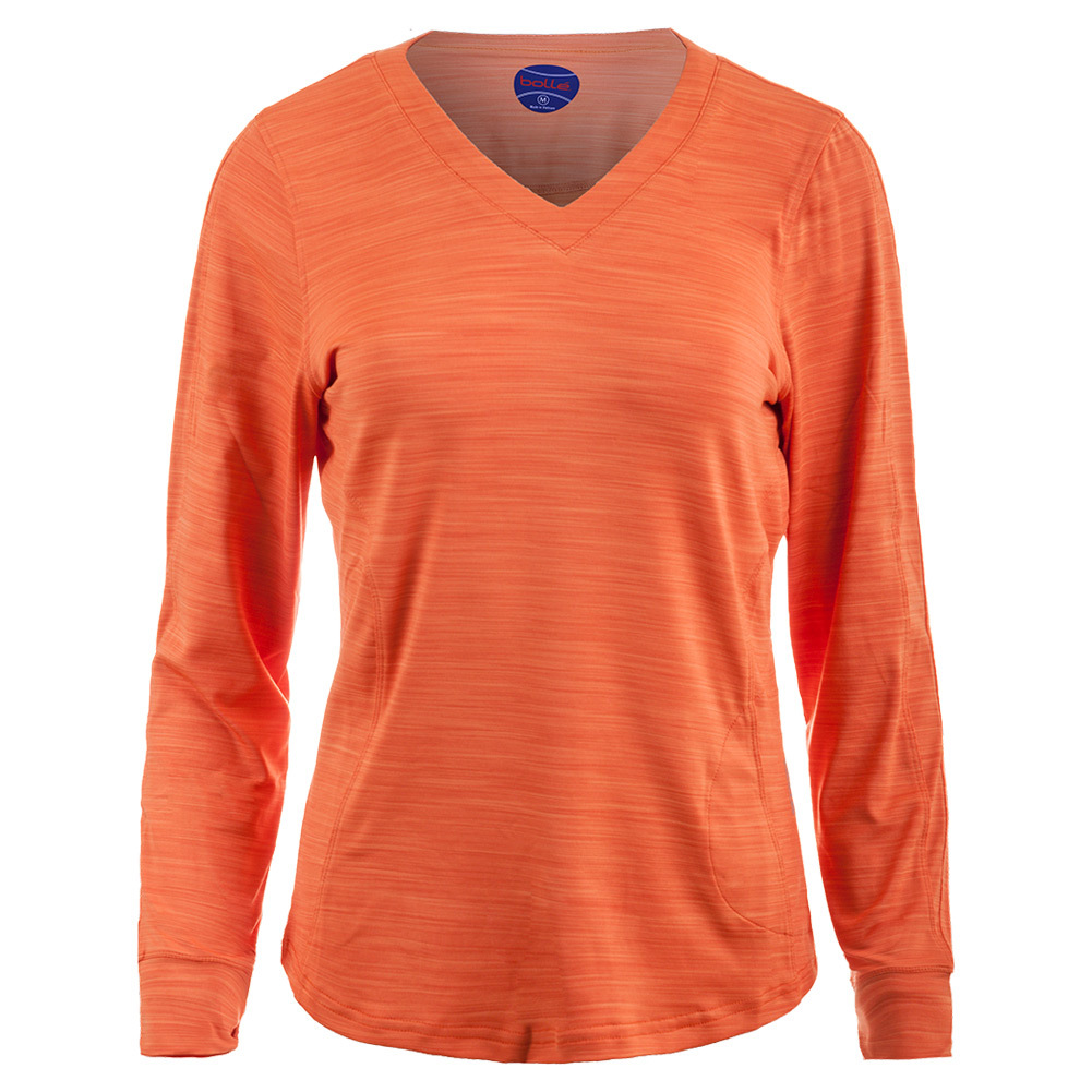 Women's Gabriella Long Sleeve Tennis Top Orange