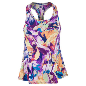 Women`s Race Day Tennis Tank Prism Print