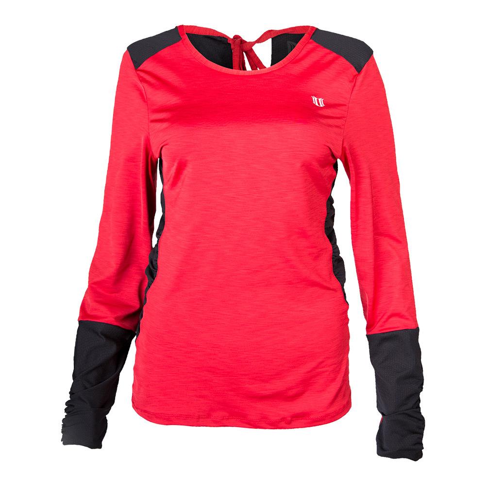 Women's Exert Long Sleeve Tennis Top Tango Red