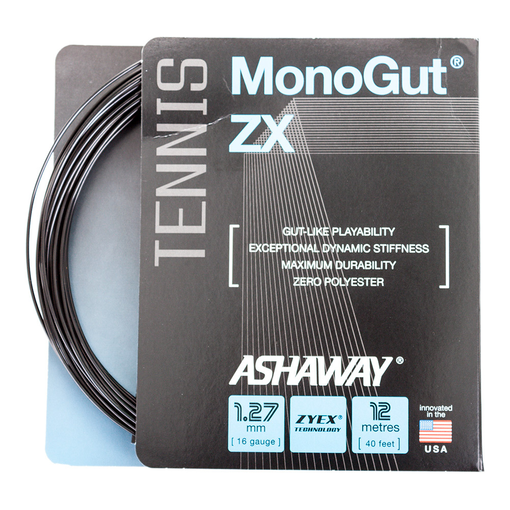 Monogut Zx 1.27/16g Tennis String Black