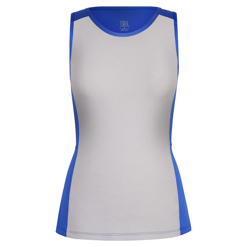 Women's Analyn Tennis Tank St Tropez And White Heather