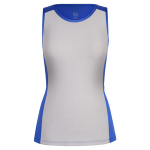 Women`s Analyn Tennis Tank St Tropez and White Heather