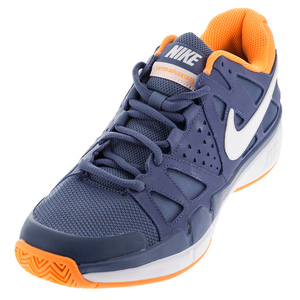 Men`s Air Vapor Advantage Tennis Shoes Ocean Fog and Bright Citrus