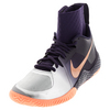 NIKE Women`s Flare Tennis Shoes Purple Dynasty and Bright Mango