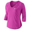 Women`s Pure 3/4 Sleeve Tennis Top 640_FIRE_PINK